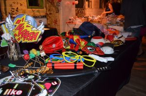 Photo booth props, colorful props