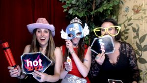 Photo booth props, open air booth