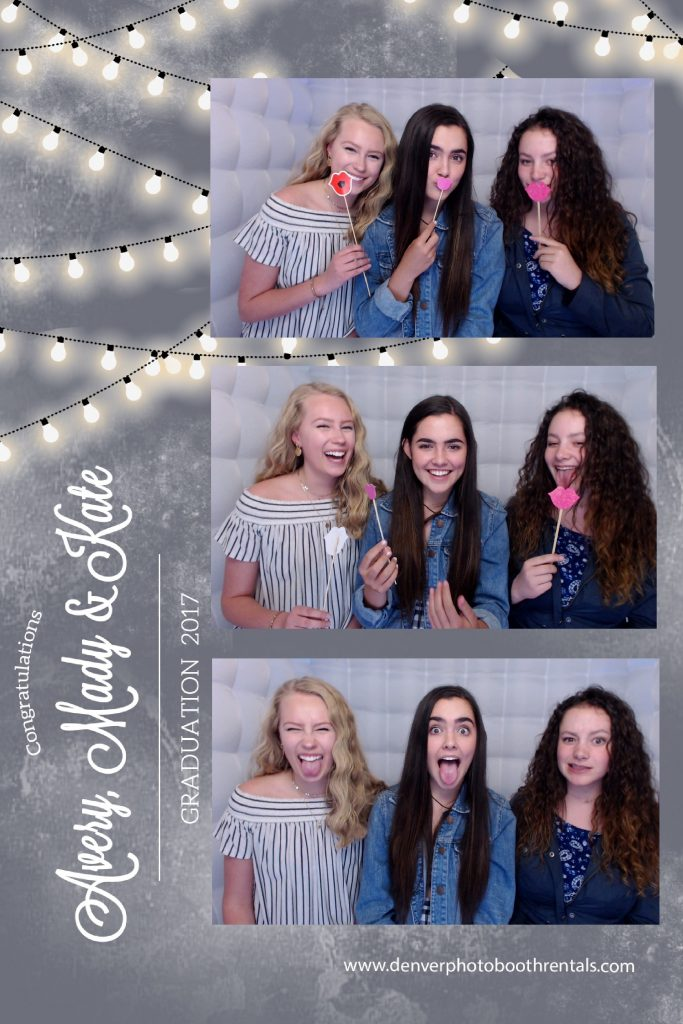 Guests in the LED photo booth