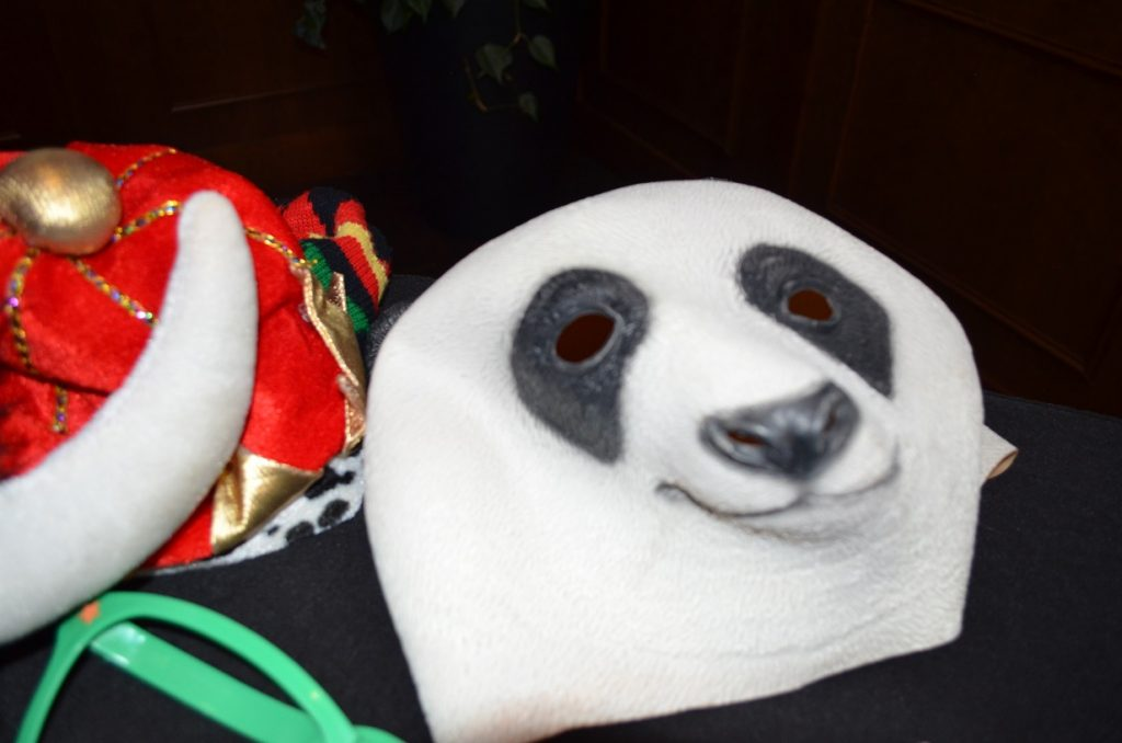 Photo booth panda mask