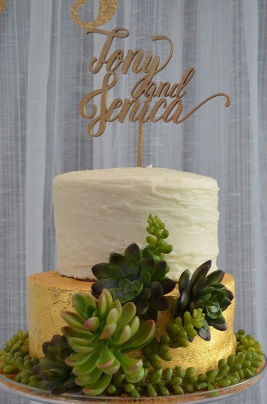 Photo booth wedding cake