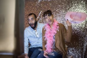 Glitter photo booth